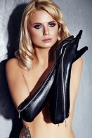 7Heaven Wetlook Elbow Length Gloves