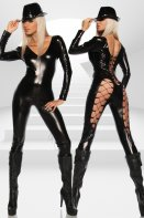 Saresia Long Sleeve Catsuit With Adjustable Lacing