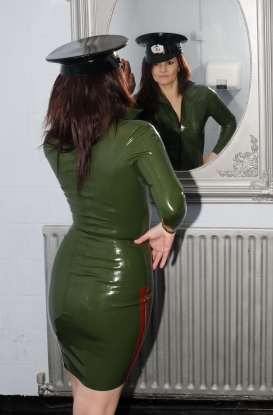 Military Skirt - Latex clothing