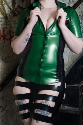 Nikola Strap Skirt - Latex clothing