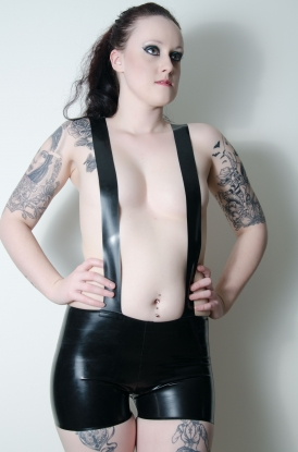 Siana Strap Shorts - Latex clothing