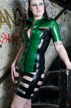 Raina Military Top - Latex clothing