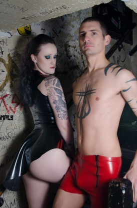 Sailor Front Shorts - Latex clothing