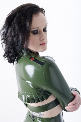 Iva Military Bolero - Latex clothing