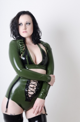Mia Military Girdle  - Latex clothing