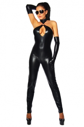Saresia Backless Catsuit - Latex clothing