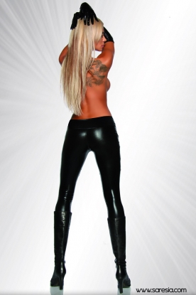 Saresia Leggings with Eyelets on the Waistband - Latex clothing