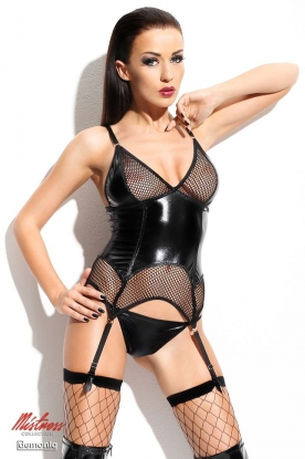 Demoniq Mistress Agathe Corset - Latex clothing
