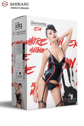 Demoniq Shibari Emi Corset - Latex clothing