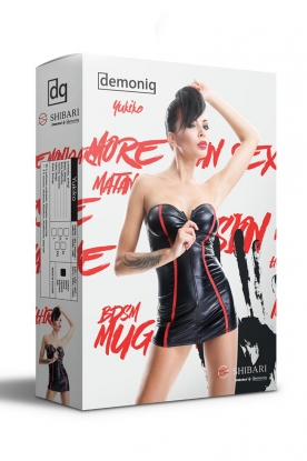 Demoniq Shibari Yukiko Dress - Latex clothing