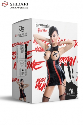 Demoniq Shibari Yuriko Dress - Latex clothing