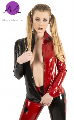 Amelee Zip Top - Latex clothing