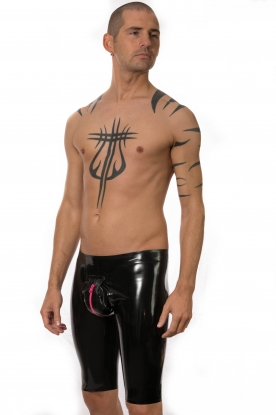 Zipped Pouch Cycling Shorts - Latex clothing