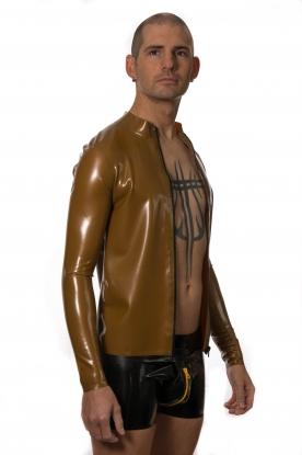Atanas Long Sleeve Zip Top - Latex clothing