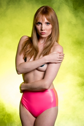 Sophie Stripe Hotpants - Latex clothing