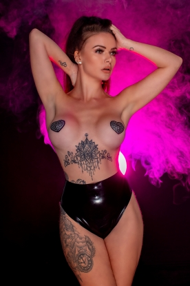 Inna High Waist Knickers  - Latex clothing