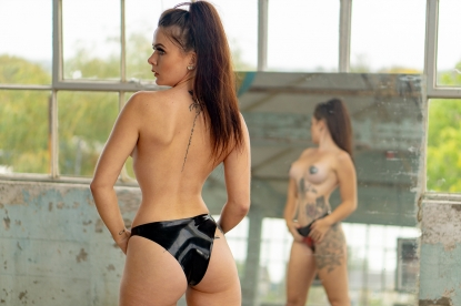 Severina Love Knickers   - Latex clothing