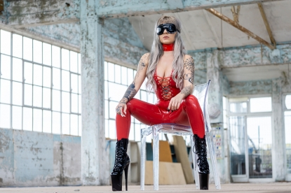 Heavy duty Blindfold - Latex clothing