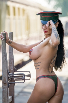 Military Cap With Trim - Latex clothing