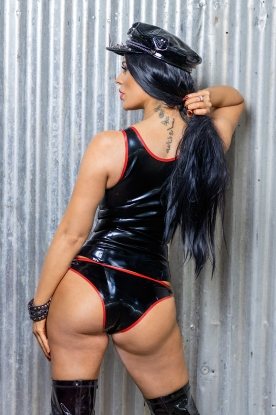 Farica Hooped Knickers  - Latex clothing