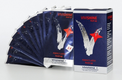 Vivishine Fresh up Wipes - Latex clothing