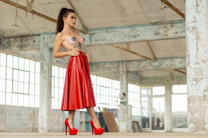 Rumyana Long Skating Skirt * - Latex clothing